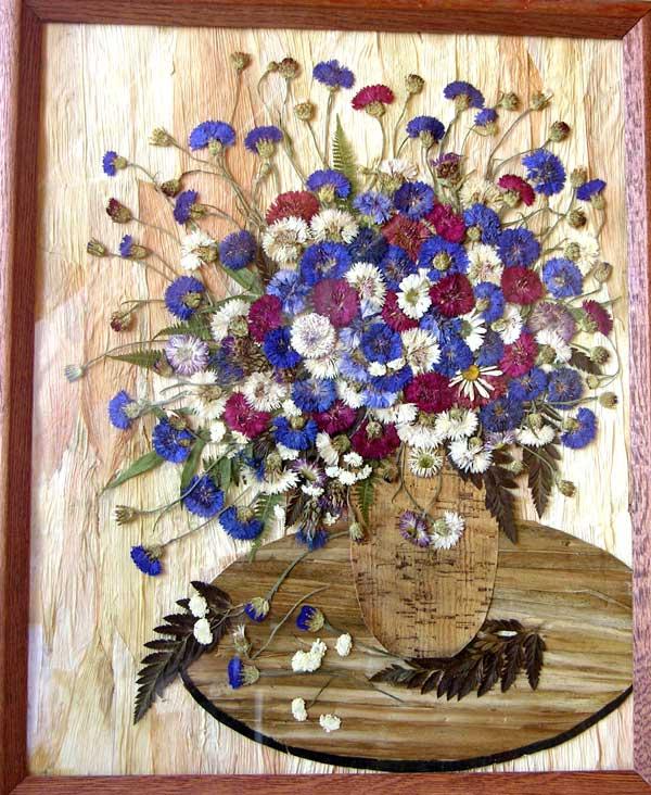 Поделка из цветов сухих 544